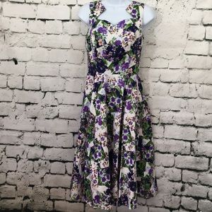 NWT hearts & roses flower filled dress